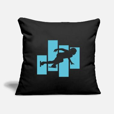 "Speed Skating Speed Skating - Throw Pillow Cover 18"" x 18"""