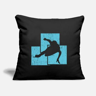 "Speed Skating Product - Throw Pillow Cover 18"" x 18"""