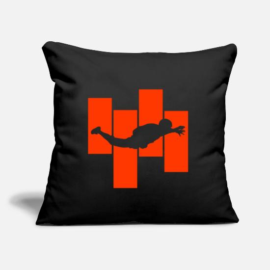 "Skydiving Pillow Cases - Skydiving - Throw Pillow Cover 18"" x 18"" black"