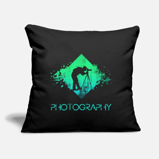"Photographer Pillow Cases - photographer - Throw Pillow Cover 18"" x 18"" black"