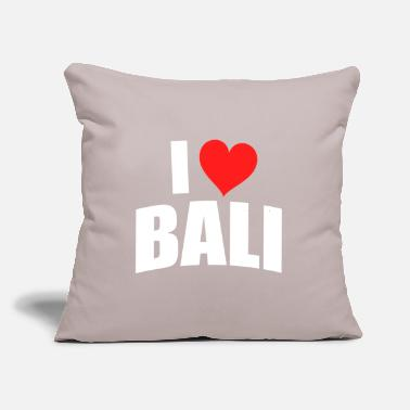 "I Love I love Bali - Throw Pillow Cover 18"" x 18"""