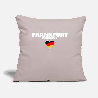 "Frankfurt Frankfurt Germany - Throw Pillow Cover 18"" x 18"""