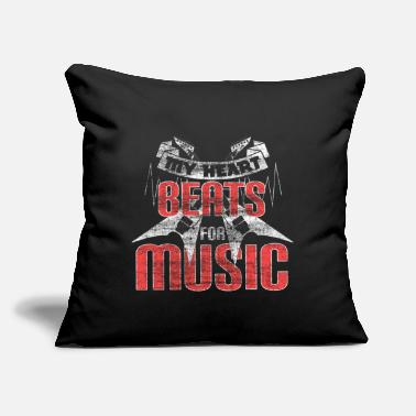 "Turn Music Musician - Throw Pillow Cover 18"" x 18"""