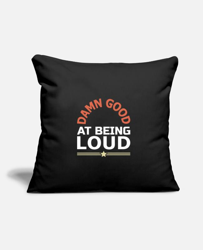"Noisy Pillow Cases - Noisy Loud Music - Throw Pillow Cover 18"" x 18"" black"
