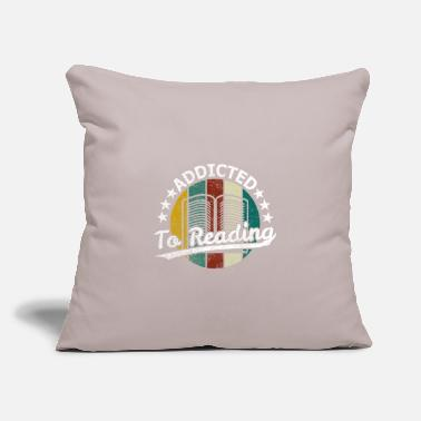 "Bookworm Reading bookworm bookworm - Throw Pillow Cover 18"" x 18"""
