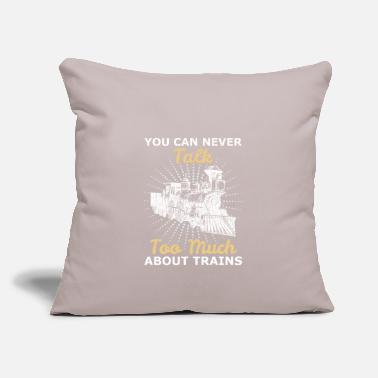 "Training Trains trains - Throw Pillow Cover 18"" x 18"""