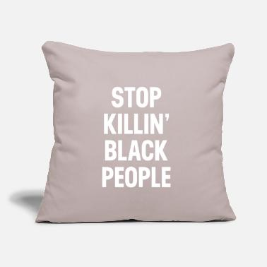 "Truth Stop Killing Black People Quote - Throw Pillow Cover 18"" x 18"""