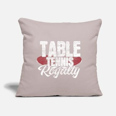 "Net Table tennis shakehand gift idea - Throw Pillow Cover 18"" x 18"""