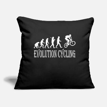 "Cycling Evolution Cycling Cycle - Throw Pillow Cover 18"" x 18"""