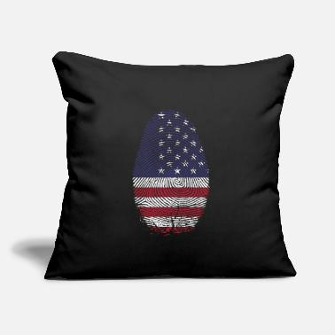 "Index Finger USA Finger - Throw Pillow Cover 18"" x 18"""