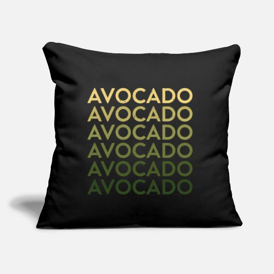"Goodies Pillow Cases - Avocado font typography gift idea - Throw Pillow Cover 18"" x 18"" black"