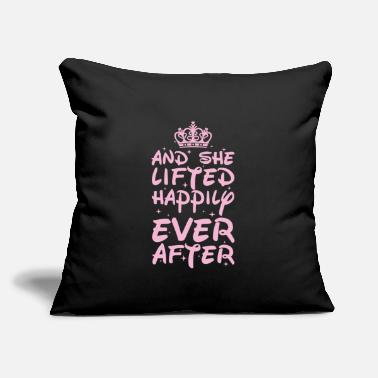 "Winter Workout Weightlifter Funny Gift - Throw Pillow Cover 18"" x 18"""