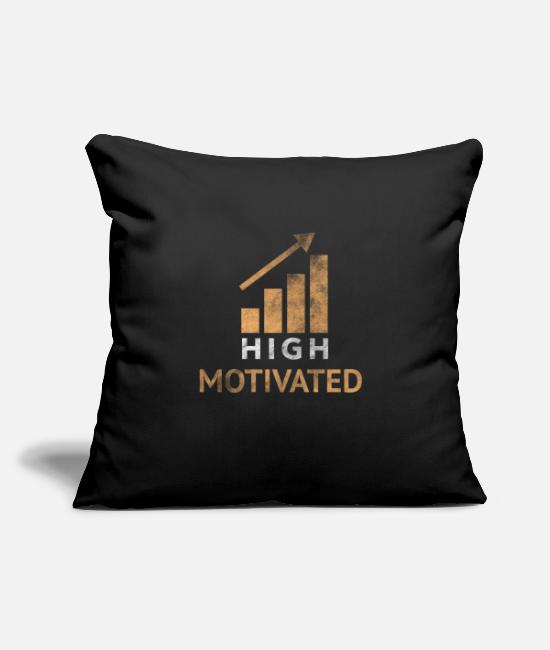 "Pigs Pillow Cases - Motivation - Throw Pillow Cover 18"" x 18"" black"