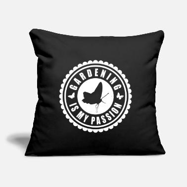 "Gardening is my passion Tee - Throw Pillow Cover 18"" x 18"""