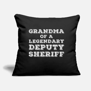 "Sheriff Proud Deputy Sheriff Grandma Grandmother Granny - Throw Pillow Cover 18"" x 18"""