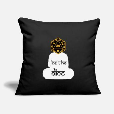 "Dice BE THE DICE - Throw Pillow Cover 18"" x 18"""
