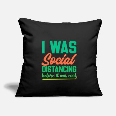 "Funny Introvert Shirts | Funny Social Distancing - Throw Pillow Cover 18"" x 18"""