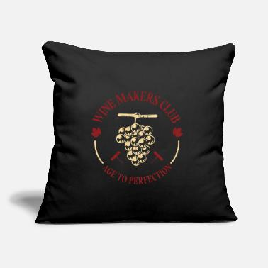 "Winemaker Wine Makers Club Perfection - Throw Pillow Cover 18"" x 18"""