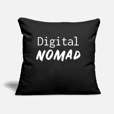 "Vacation Digital Nomad Travel Lover Explore Gifts - Throw Pillow Cover 18"" x 18"""