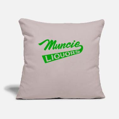 "Liquor Muncie Liquors - Throw Pillow Cover 18"" x 18"""