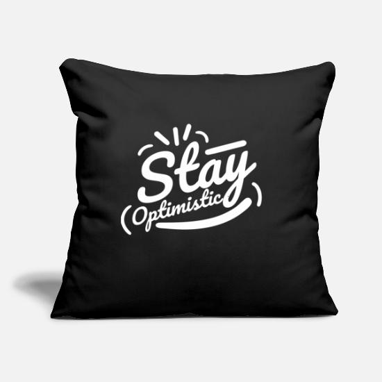 "Goodies Pillow Cases - Optimistic Typography - Throw Pillow Cover 18"" x 18"" black"