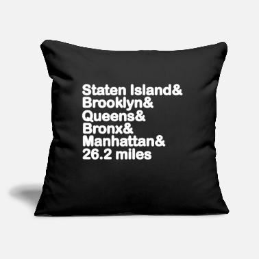 "5 Boroughs 5 Borough NYC Marathon New York Marathon - Throw Pillow Cover 18"" x 18"""