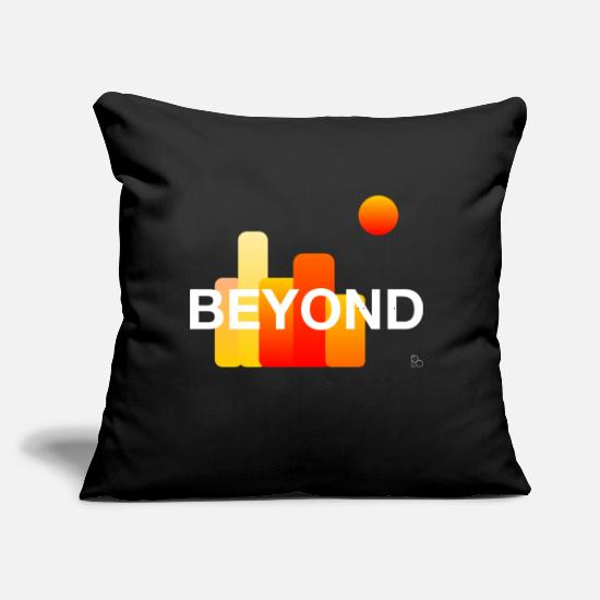 "Digital Pillow Cases - beyond by po - Throw Pillow Cover 18"" x 18"" black"