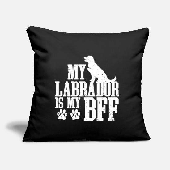 "Gift Idea Pillow Cases - Labrador dog pet friend four-legged owner - Throw Pillow Cover 18"" x 18"" black"