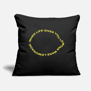 "Text when life gives you lemons - Throw Pillow Cover 18"" x 18"""