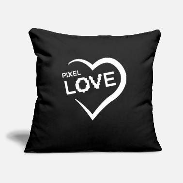 "Teen PIXEL LOVE COUPLE FOREVER TRUE PASSION VALENTINE'S - Throw Pillow Cover 18"" x 18"""