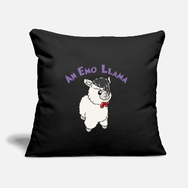 "Emo Emo Llama - Throw Pillow Cover 18"" x 18"""