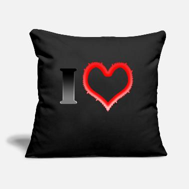 "I Heart I Heart... - Throw Pillow Cover 18"" x 18"""