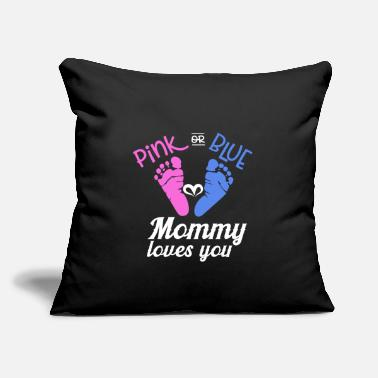 "Baby Shower Baby Shower Pink or Blue - Throw Pillow Cover 18"" x 18"""