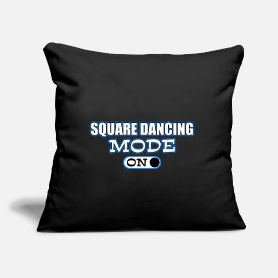 "Square Pillow Cases - Dancing Dancers Dance Waltz Ball Gift Disco Tango - Throw Pillow Cover 18"" x 18"" black"