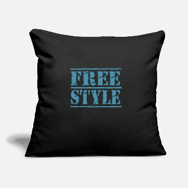 "Freestyle freestyle - Throw Pillow Cover 18"" x 18"""