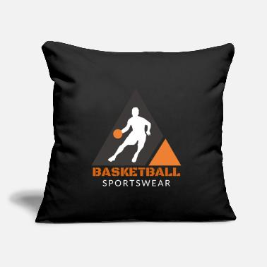 "3 Point Basketball Sport Hobby Basket Feeder Gift 3 point - Throw Pillow Cover 18"" x 18"""