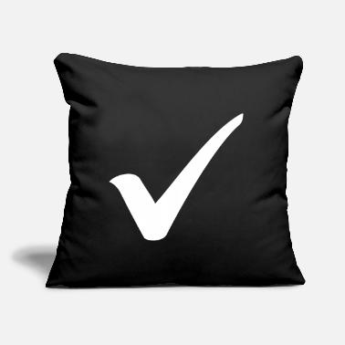 "Check Check - Throw Pillow Cover 18"" x 18"""