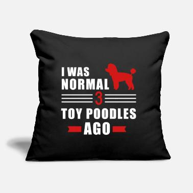 "Toy Poodle - Throw Pillow Cover 18"" x 18"""