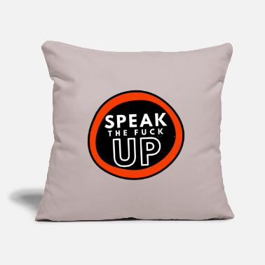 "Police Speak The Fuck Up - Throw Pillow Cover 18"" x 18"""