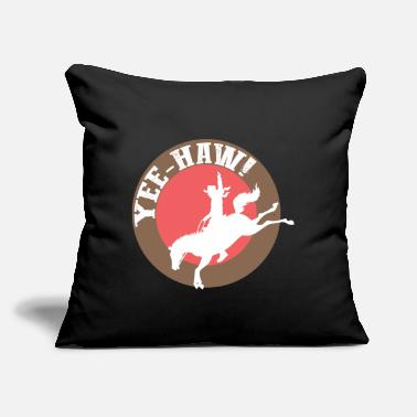 "Western Horse Western Cowboy western riding western horse - Throw Pillow Cover 18"" x 18"""