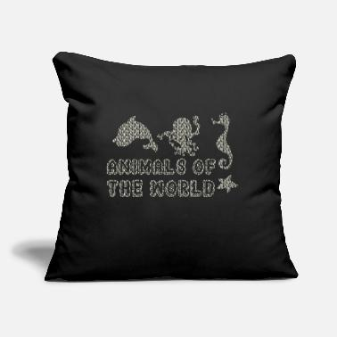 "Animals Of The World Funny Rare Animals Memes SIMPLE VINTAGE HUMOR FUNNY RARE ANIMALS OF THE WOR - Throw Pillow Cover 18"" x 18"""