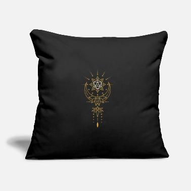 "Druid's D20 Dice Sacred Geometry - Throw Pillow Cover 18"" x 18"""
