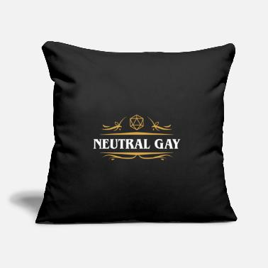 "Neutral Gay Alignment D20 Dice - Throw Pillow Cover 18"" x 18"""