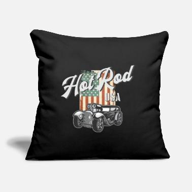 "Rod Hot Rod - Throw Pillow Cover 18"" x 18"""