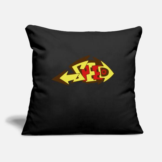 "Dub Pillow Cases - Speed - Throw Pillow Cover 18"" x 18"" black"