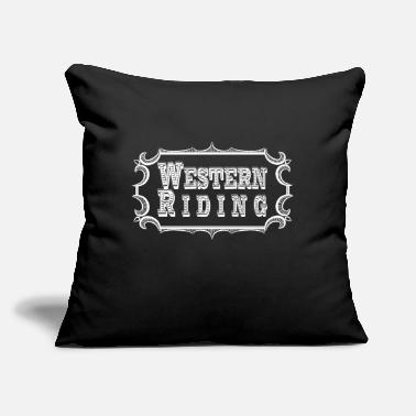 "Western Riding Western Riding - Throw Pillow Cover 18"" x 18"""