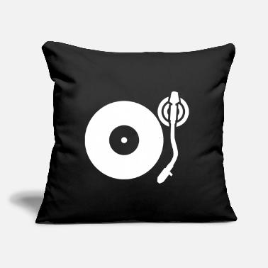 "Turntable Turntable - Throw Pillow Cover 18"" x 18"""