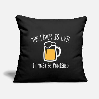 "Liver The Liver Is Evil - Throw Pillow Cover 18"" x 18"""
