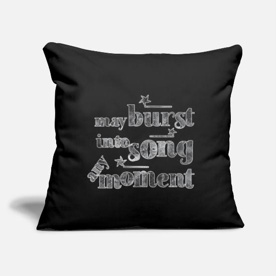"Singer Pillow Cases - May burst into song any moment! black and white - Throw Pillow Cover 18"" x 18"" black"