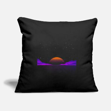 "Outrun Style Vaporwave Outrun | Eighties Style - Throw Pillow Cover 18"" x 18"""